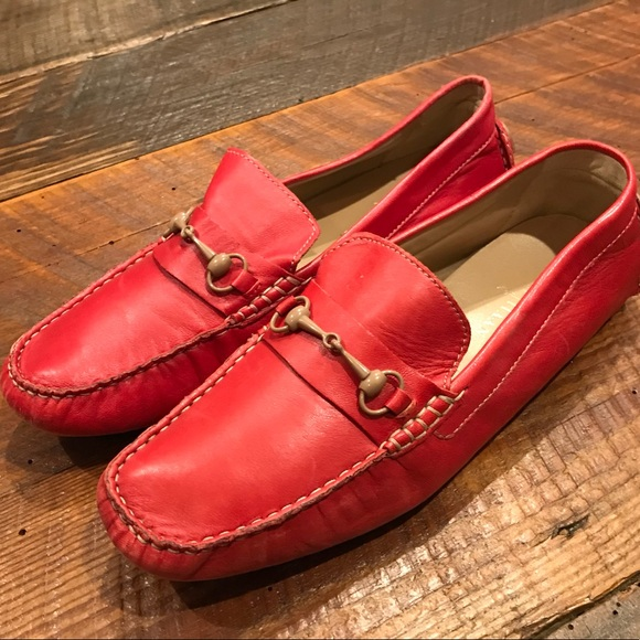 48f92122d7a Cole Haan Shoes - Cole Haan Red Soft Leather Loafer Shoes Sz 9 Comfy
